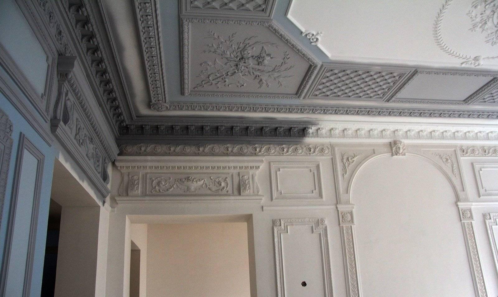 Лепнина на стенах – фото изысканной ручной работы, 105 фото украшения стен и потолков