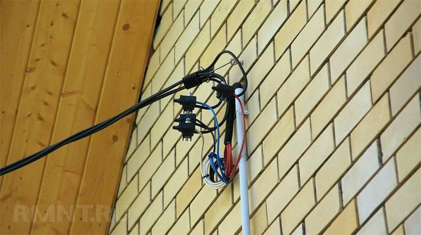 Как подвести электричество от столба к дому