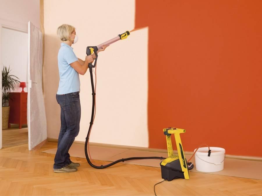 Покраска потолка краскопультом - пошаговая инструкция - блог о строительстве