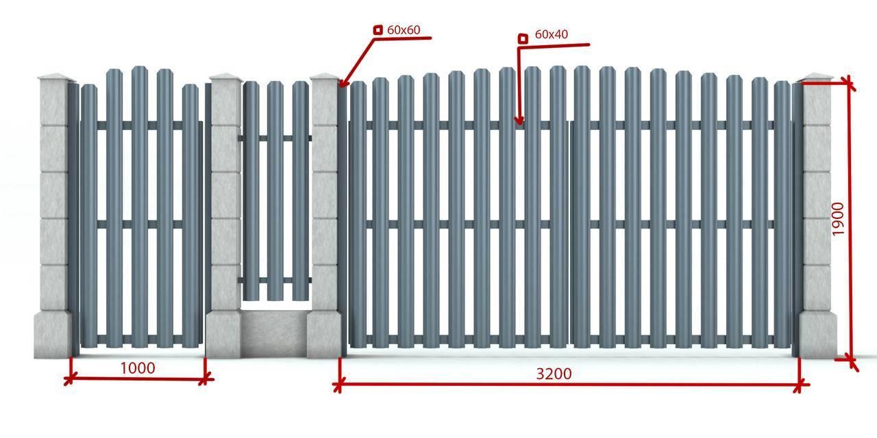 Забор из металлического штакетника своими руками пошаговая инструкция