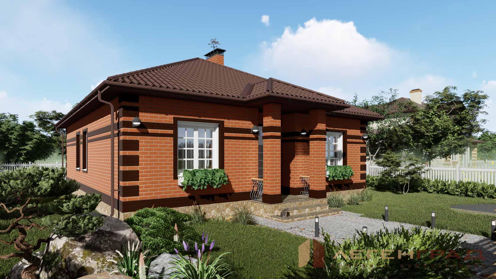 Проекты одноэтажных домов из кирпича - всё о кирпиче