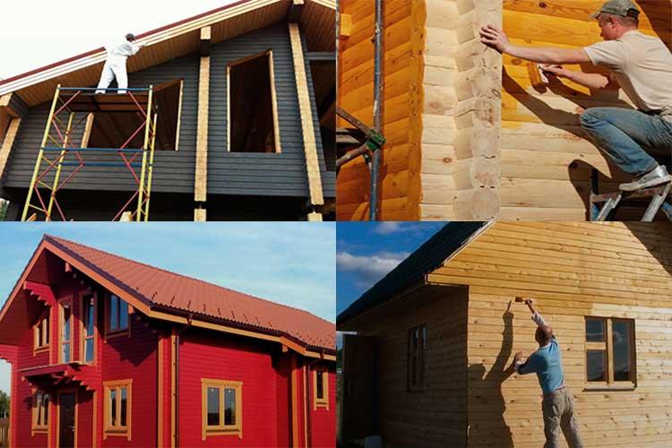 Чем покрасить деревянный дом снаружи: какой краской и цветом? чем покрасить деревянный дом снаружи: какой краской и цветом?