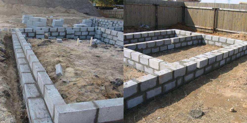 Фундамент из блоков фбс: пошаговая инструкция, плюсы и минусы материалы