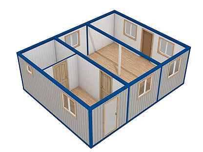 Как сделать дом из бытовок?