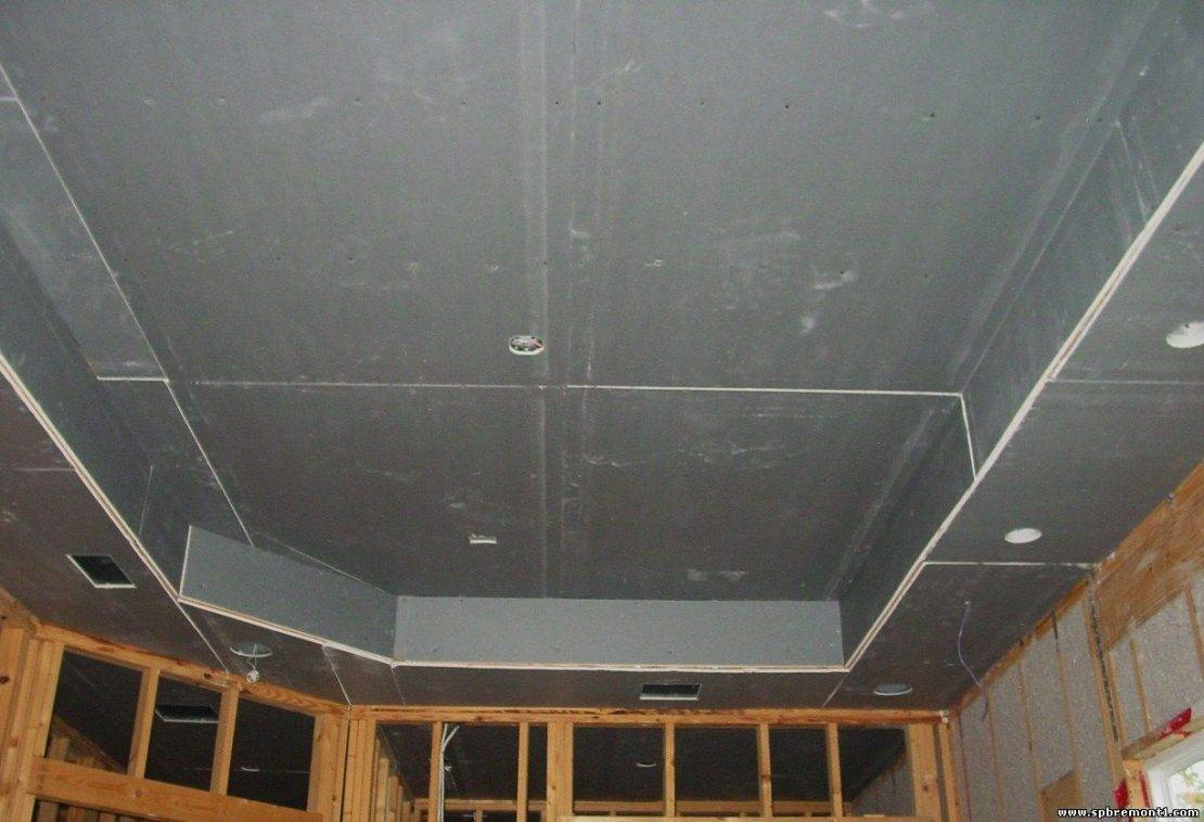 Как подшить потолок с деревянными балками гипсокартоном