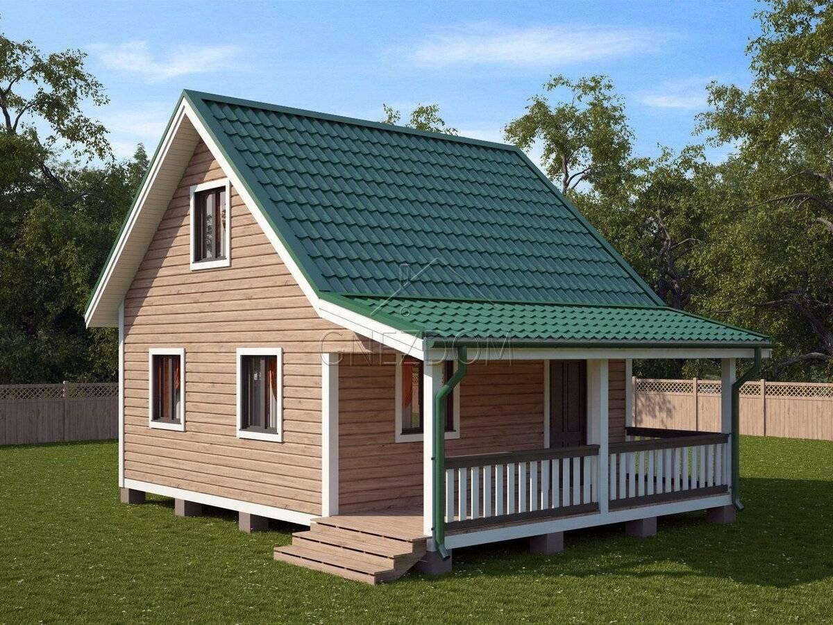 Дешевые дома из бруса и постройка проектов эконом класса
