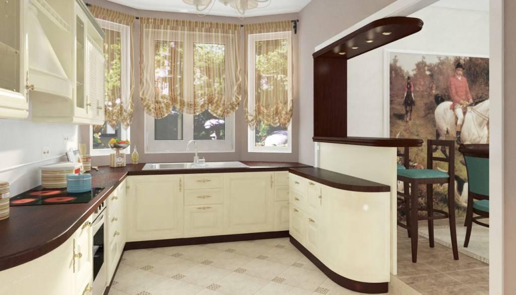 Рекомендации по дизайну кухни с эркером