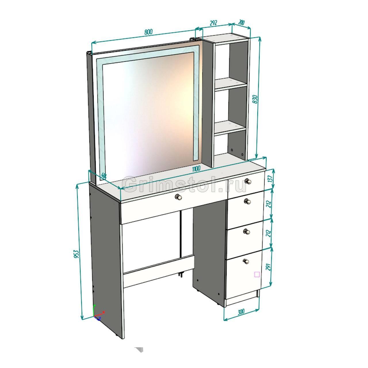Управляй желаниями: туалетный столик с зеркалом и подсветкой для повседневного использования
