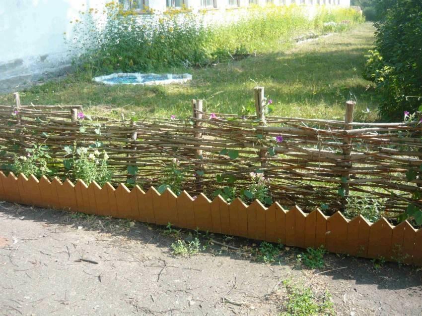 Плетеный забор своими руками - инструкция!