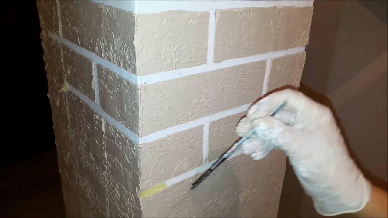 Имитация кирпичной стены (кладки) своими руками: 7 способов, фото и видео