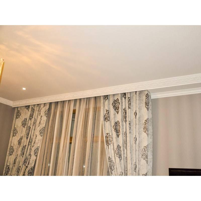 Потолочная гардина в натяжной конструкции: фото и цена установки, монтаж и виды