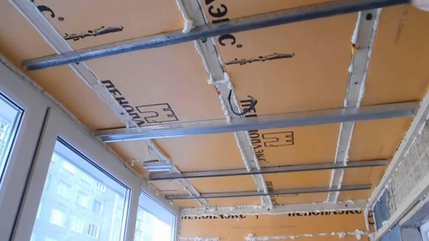 Потолок на балконе своими руками