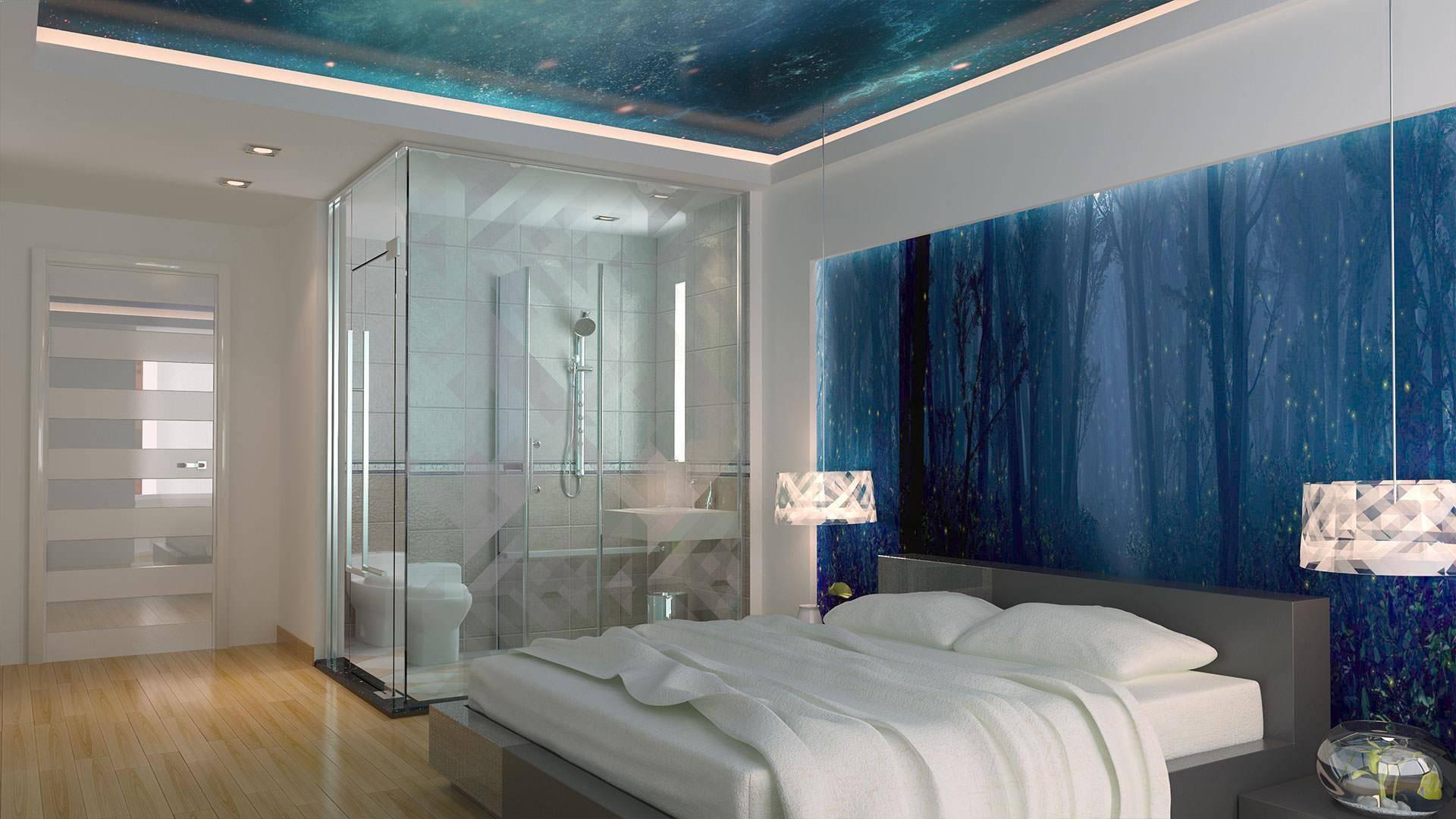Потолки из стекла в оформлении интерьера разных помещений, виды стеклянных потолков