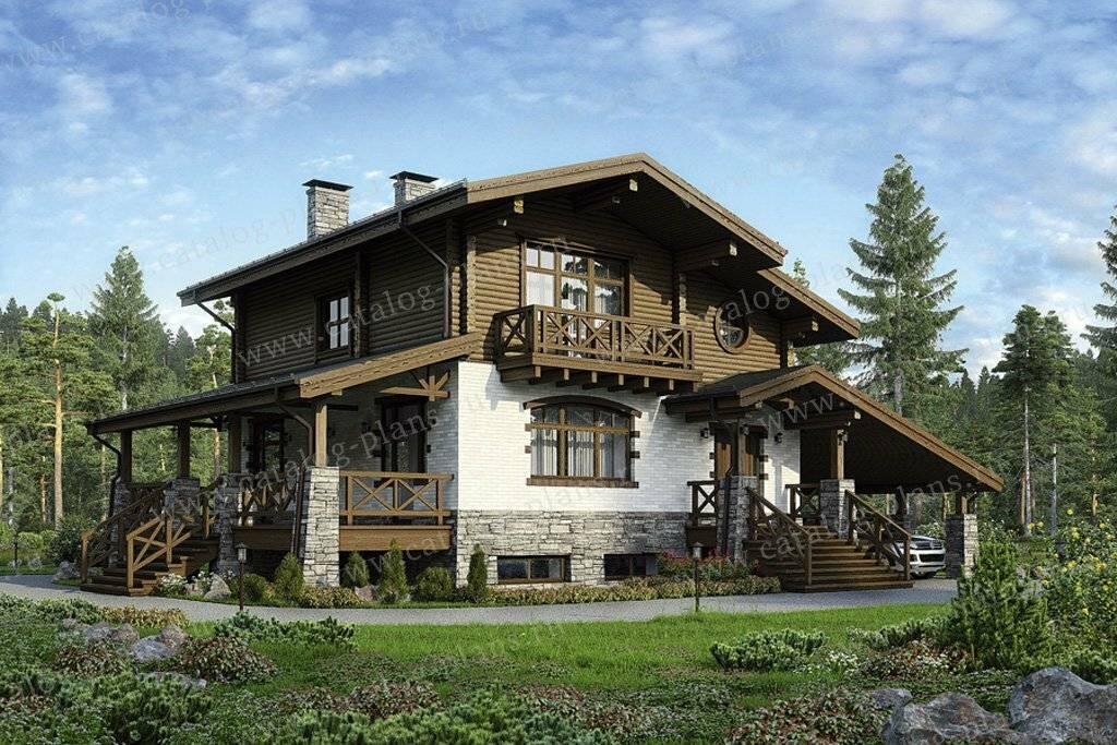 Проекты комбинированных домов в стиле шале и их преимущества