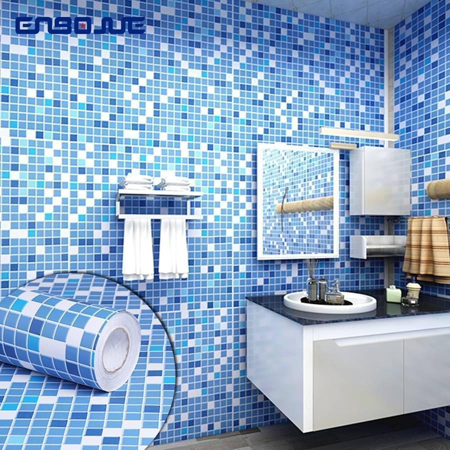 Обои для санузла и ванной комнаты: влагостойкие, фотообои, жидкие, виниловые и самоклеющаяся пленка