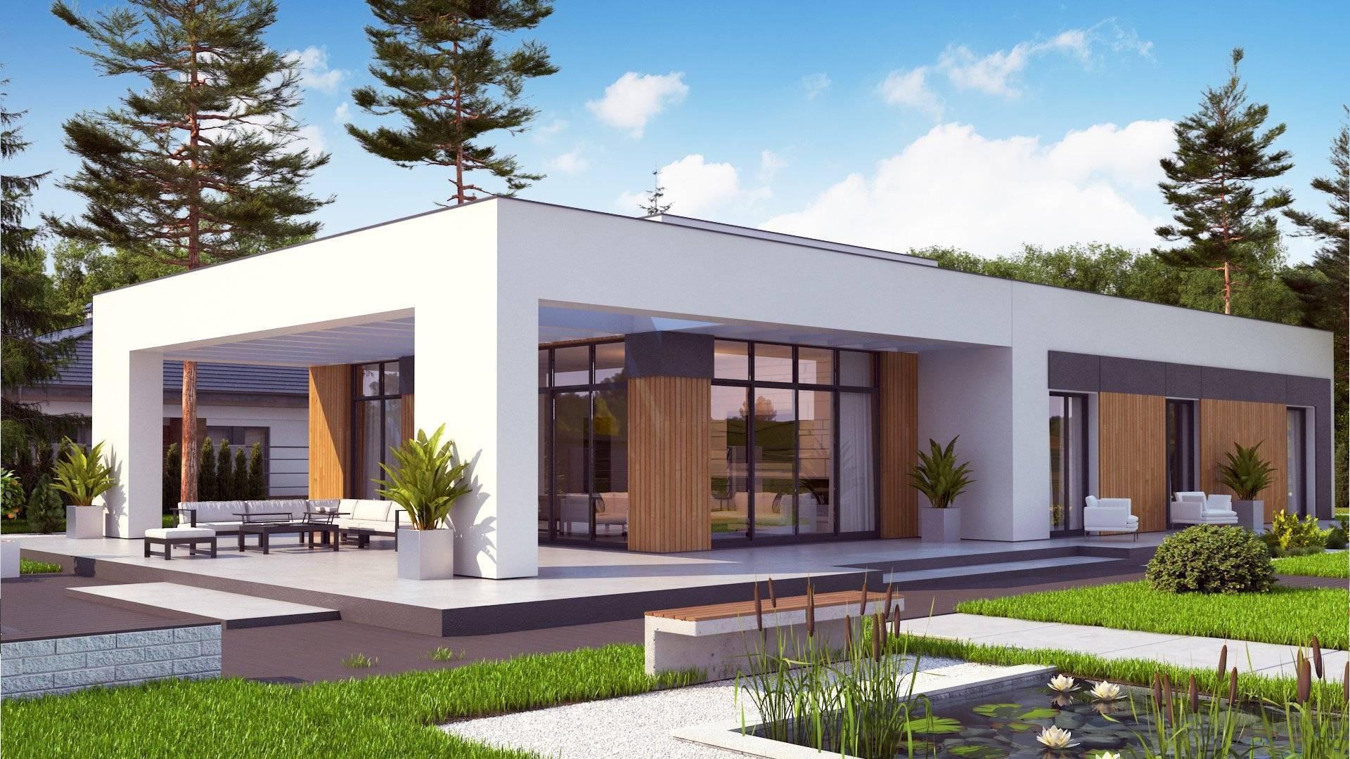 Проекты одноэтажных домов в стиле Хай Тек