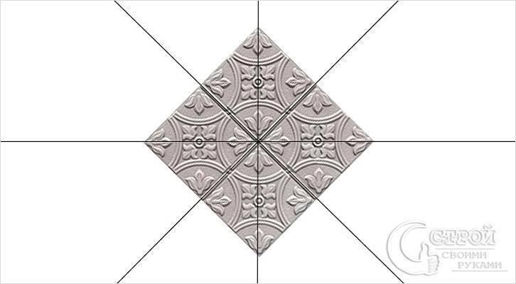 Как клеить потолочную плитку – укладка параллельно и по диагонали