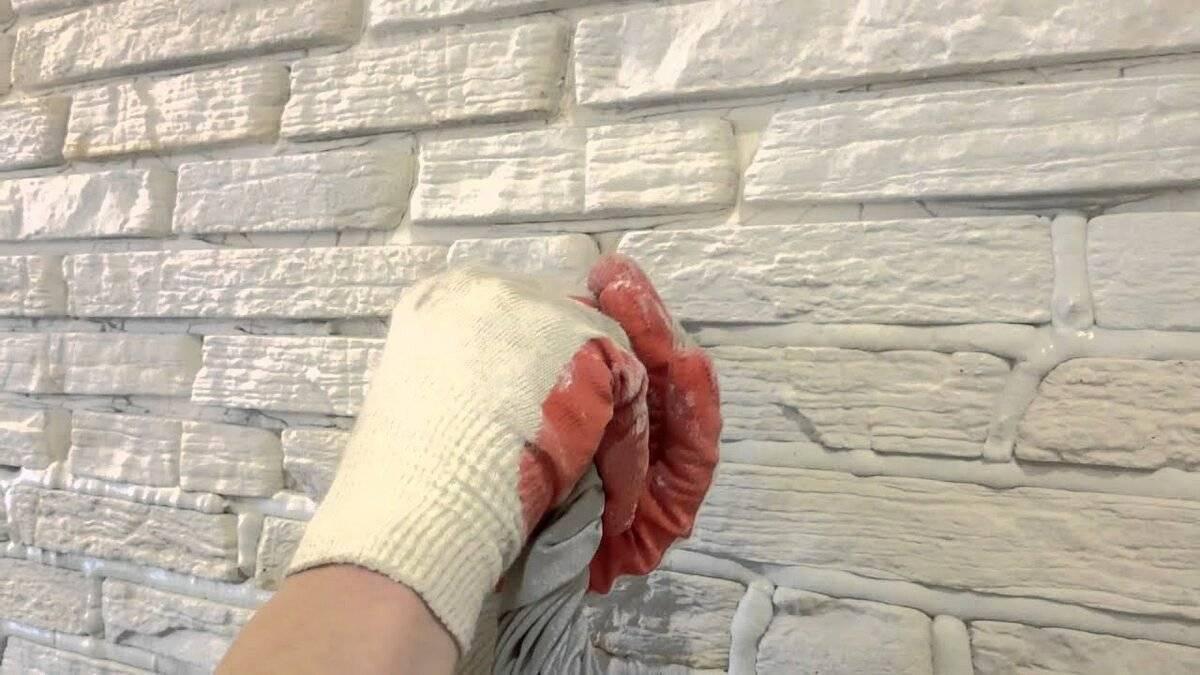 Как выполнить покраску искусственного камня из гипса