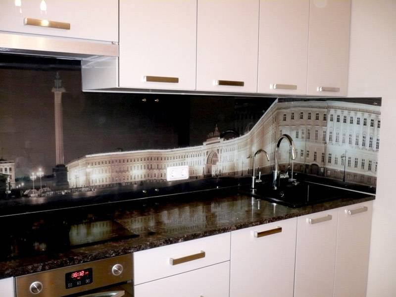 Фотопанели для кухни из пластика, хдф или стекла: выбираем оптимальный вариант