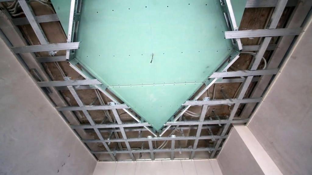 Как правильно собрать потолочный каркас под гипсокартон по технологии