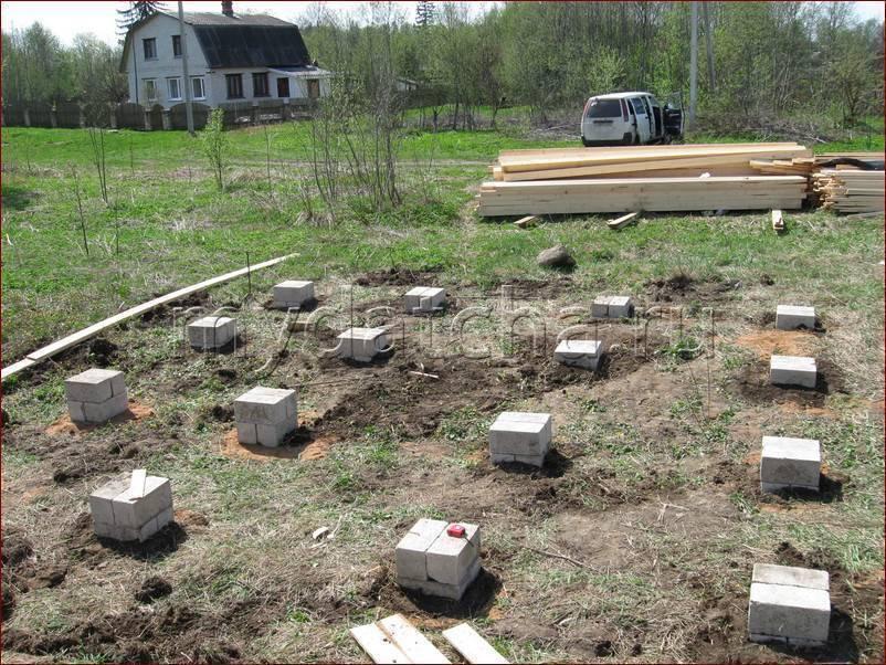 Расчет и строительство столбчатого фундамента для каркасного дома - фундамент - самострой 74