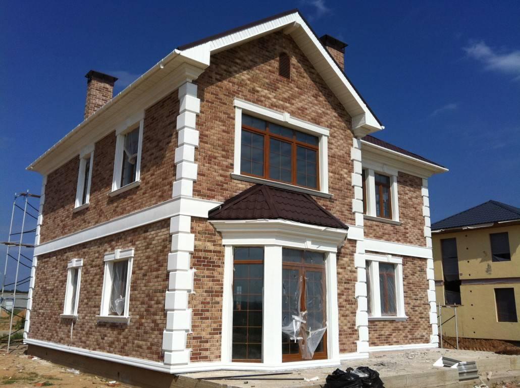 Отделка фасада дома камнем и штукатуркой - фото красивая отделка фасада дома камнем и штукатуркой — фото — onfasad.ru