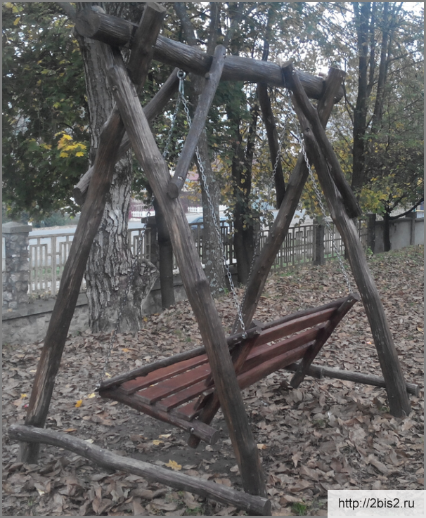 Детские качели своими руками: из дерева и из металла