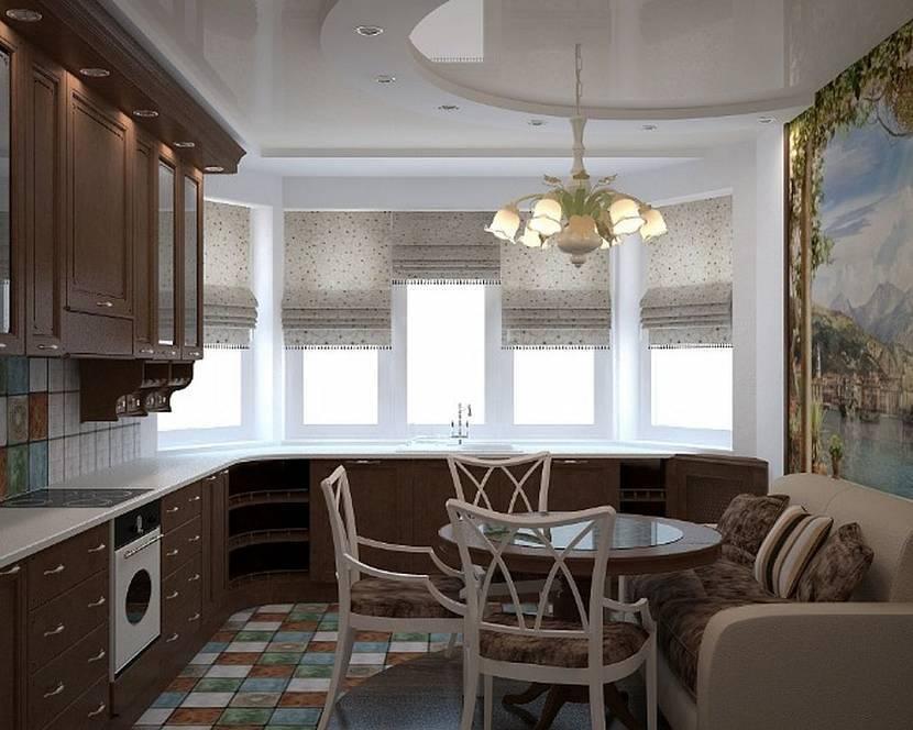 Дизайн кухни с эркером (84 фото): эркерная кухня-гостиная в частном доме, планировка интерьера кухни с треугольным эркерным окном и в виде полуэркера