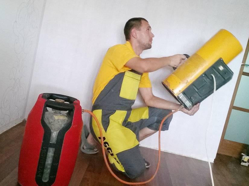 Как выбрать тепловую пушку для натяжных потолков