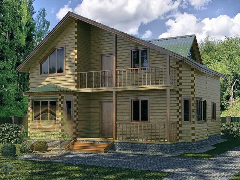 Проекты двухэтажных загородных домов из дерева. проектирование деревянных домов с двумя этажами