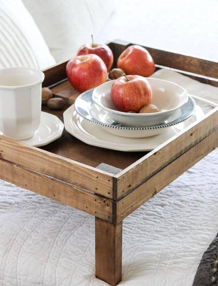 Столик для завтрака в постель - 35 фото практичных дизайнерских идей
