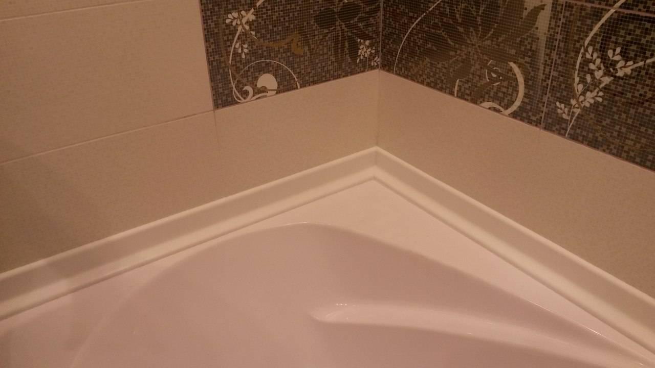 Как приклеить бордюр на ванну — варианты укладки и технологии