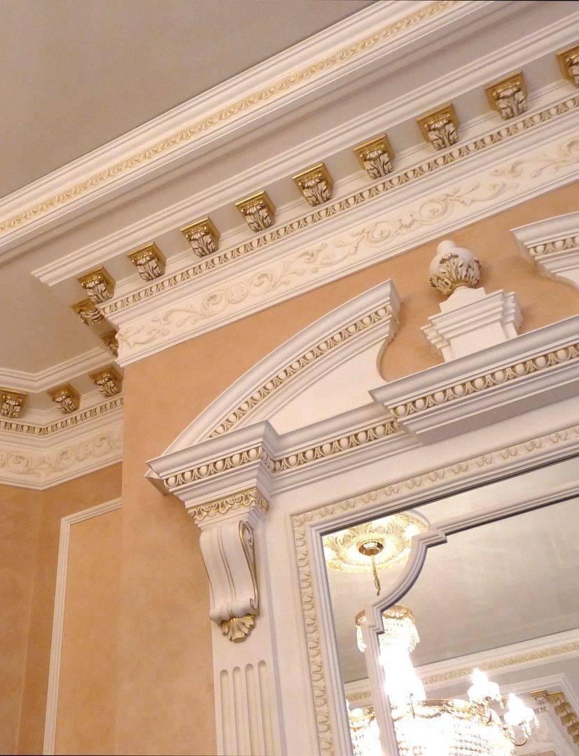 Различные варианты лепнины для потолка