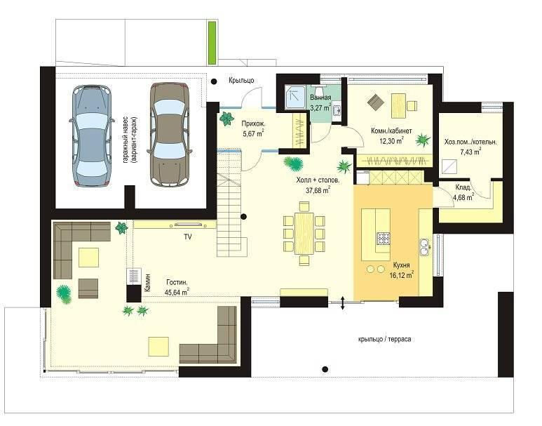 Проекты домов в стиле хай тек с плоской крышей: фото проекты домов в стиле хай тек с плоской крышей: фото