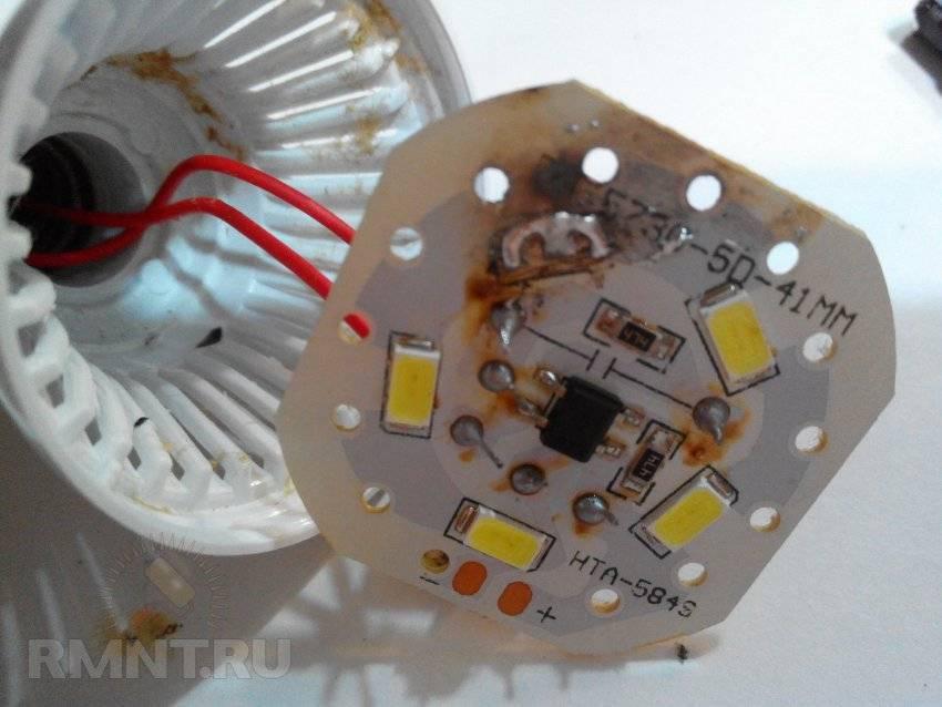 Ремонт светодиодной лампы на 220 в своими руками: правила починки, инструкция