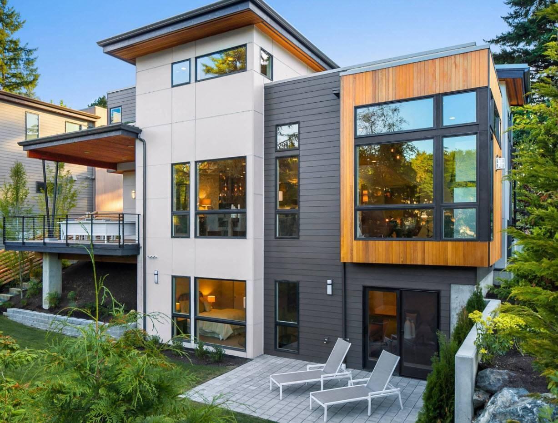 Одноэтажные дома с большими панорамными окнами +75 фото проектов