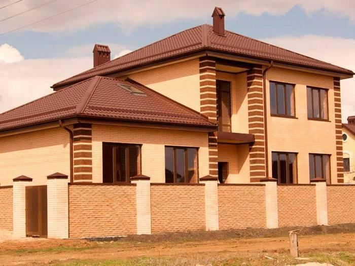Фото домов из кирпича: фотогалерея кирпичных домов - одноэтажные и двухэтажные